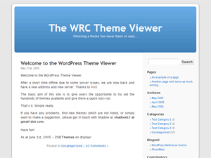 Original WordPress Default Kubrick Theme Screenshot