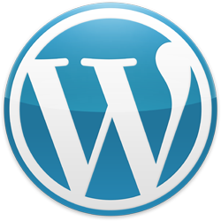 WordPress 2012 Blue logo