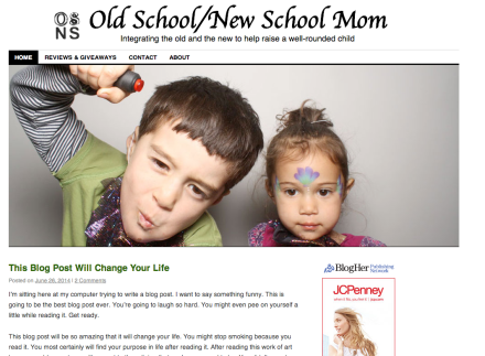 Redesign - Old School New School Mom