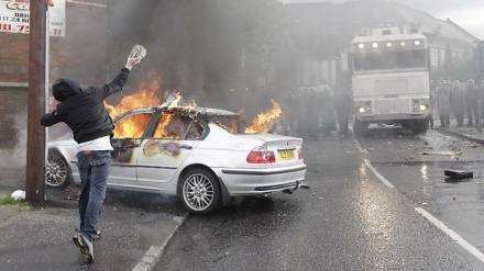 Northern Ireland riots from Orange order
