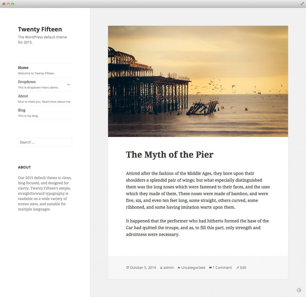 WordPress - Twenty Fifteen theme